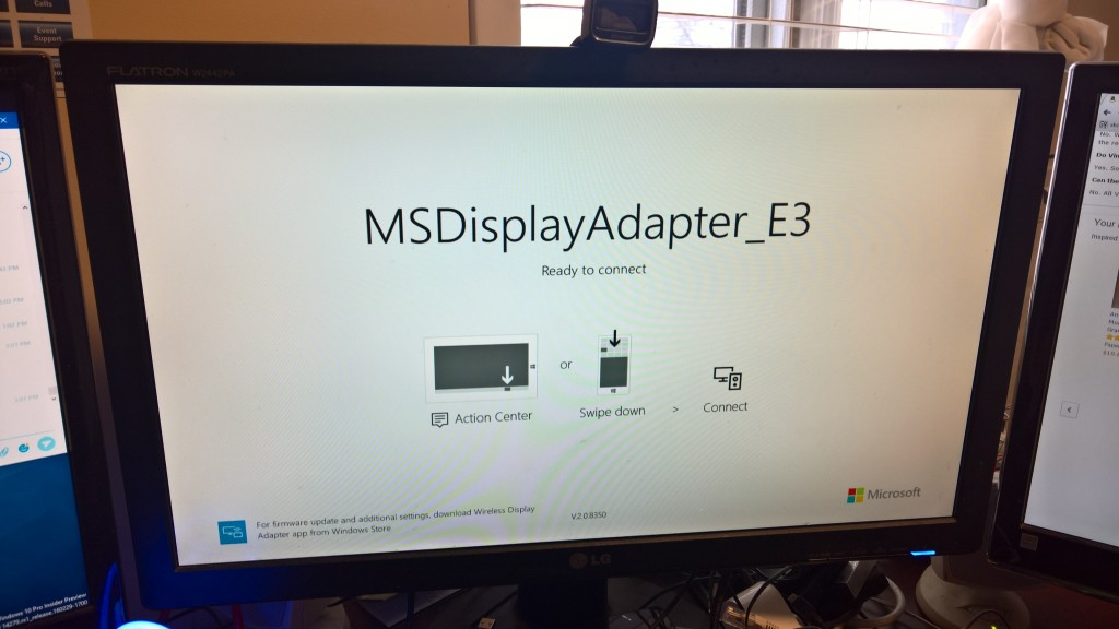 Start Screen for Microsoft Wireless Display Adapter V2